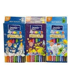 خرید مداد رنگی 12 رنگ ایمر