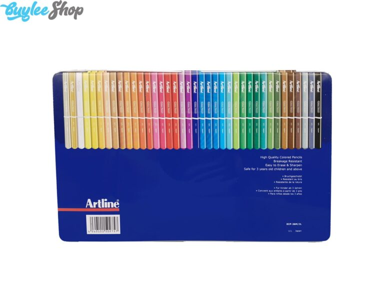 مداد رنگی 36 رنگ آرتلاین جعبه فلزی