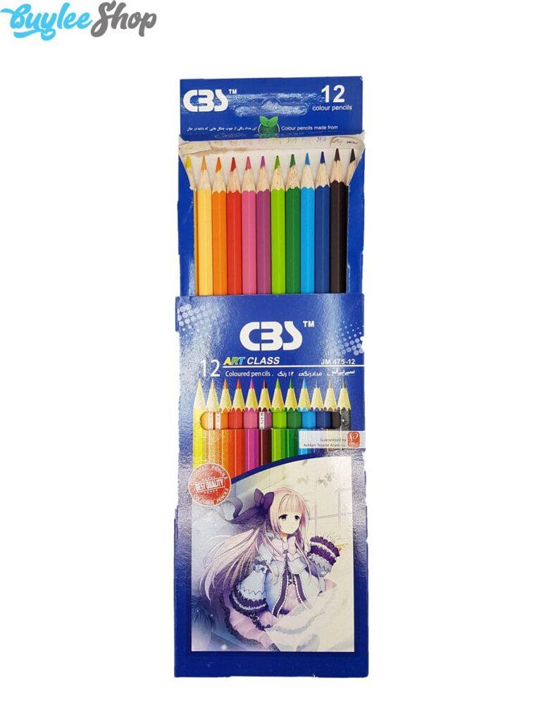 مداد رنگی 12 رنگ سی بی اس مدل JM475-12
