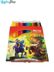 مداد رنگی 24 رنگ فکتیس جعبه مقوایی