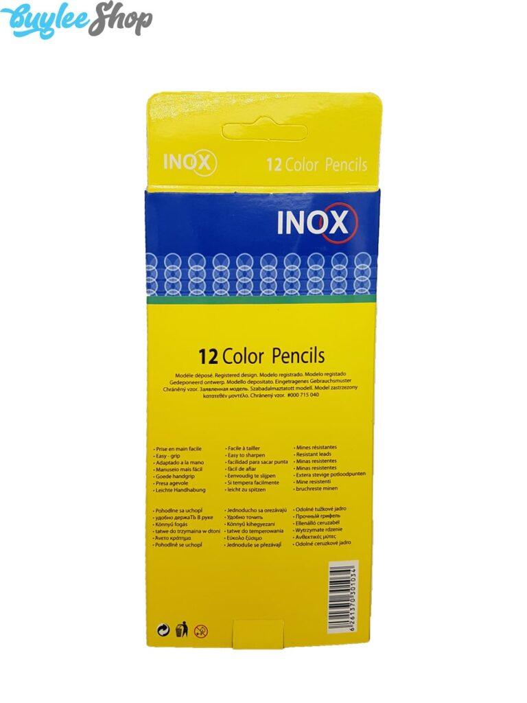 مداد رنگی 12 رنگ اینوکس جعبه مقوایی