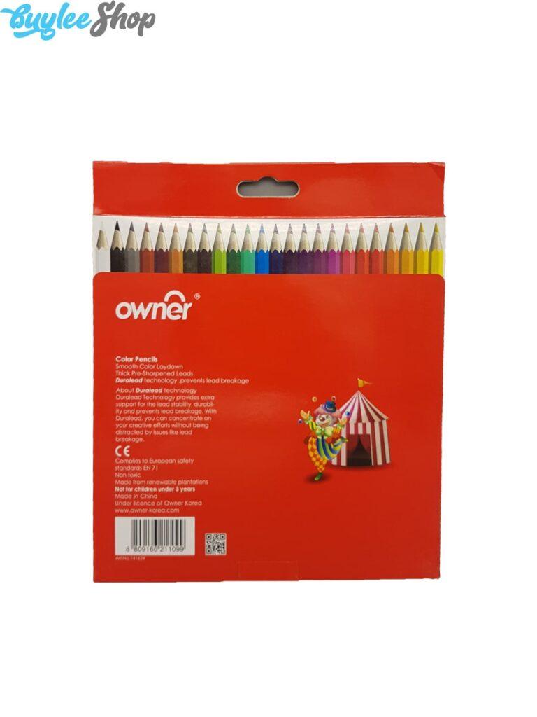 مداد رنگی 24 رنگ اونر جعبه مقوایی