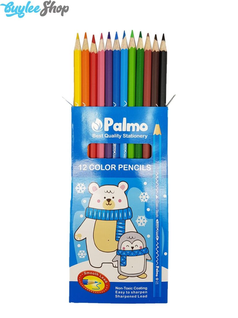مداد رنگی 12 رنگ پالمو جعبه مقوایی