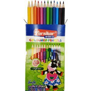 مداد رنگی 12 رنگ پارسیکار مدل JM880-12