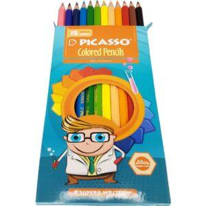 مدادرنگی 12رنگ پیکاسو جعبه مقوایی
