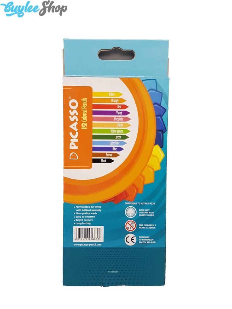 مداد رنگی 12 رنگ پیکاسو جعبه مقوایی