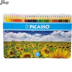 مدادرنگی 36رنگ پیکاسو جعبه فلزی