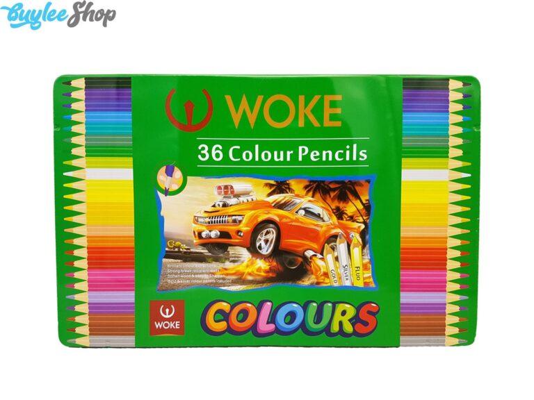 مداد رنگی 36 رنگ ووک جعبه فلزی