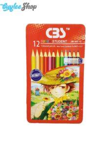 مداد رنگی 12 رنگ سی بی اس مدل JM485-12