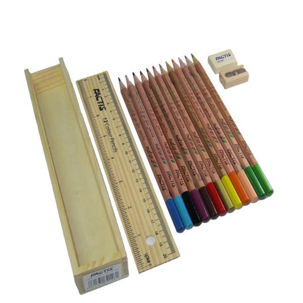 مداد رنگی 12 رنگ فکتیس Natural
