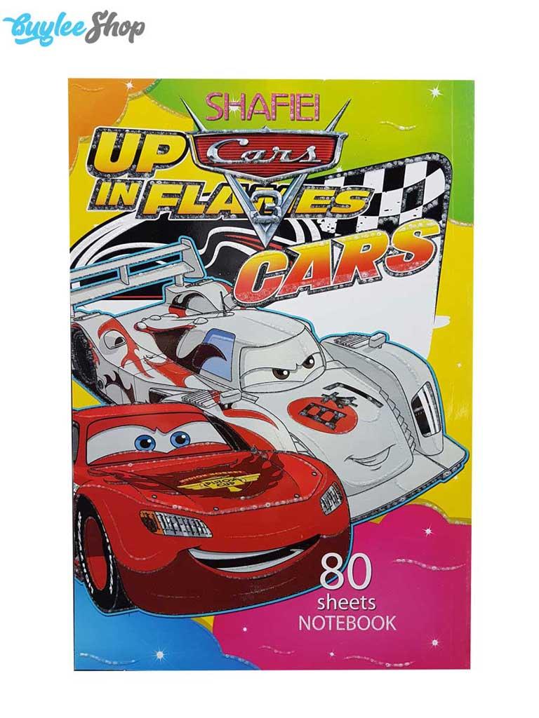 دفتر نقاشی 80برگ شفیعی مدل ماشینها