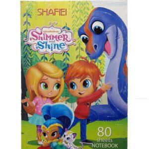 دفتر نقاشی 80برگ شفیعی مدل Shimmer Shine