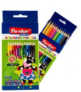 مداد رنگی 12 رنگ پارسیکار
